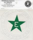 adesivo Mi parolis en Esperanto (branco)