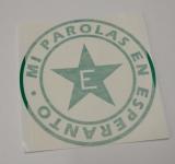 adesivo Mi parolas en esperanto (verde)